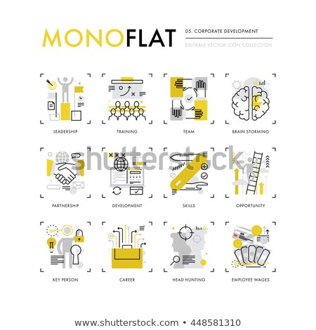 job hunting collection elements vector icons set stock photo © pikepicture