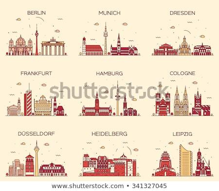 Frankfurt kathedraal Duitsland hoofd- rivier Stockfoto © borisb17