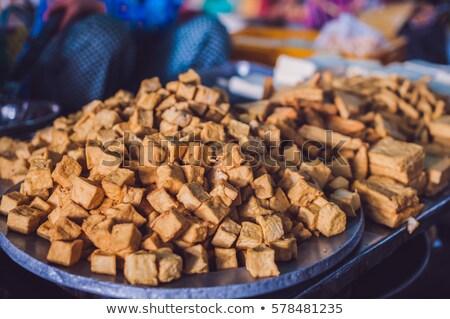 Тофу рынке продовольствие цвета Салат Сток-фото © galitskaya