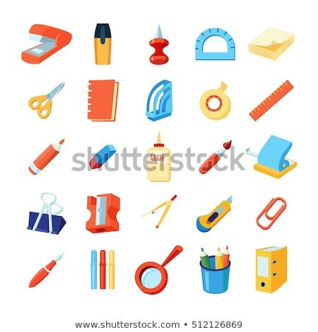 Apagador artigos de papelaria equipamento cor vetor correção Foto stock © pikepicture