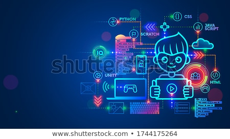 Coding Education, Programming in Laptop Vector Stock photo © robuart