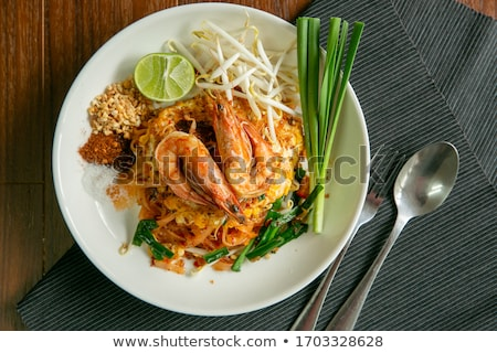 dish of pad thai   thai fried rice noodles stock photo © alex9500