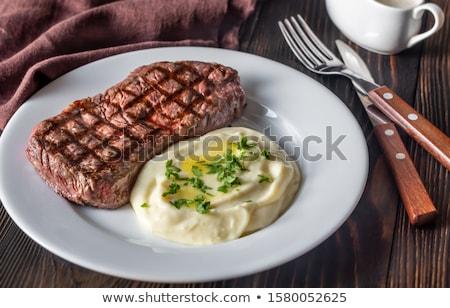 стейк сельдерей белый пластина фон красный Сток-фото © Alex9500