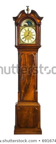 Starych dziadek zegar karykatura drewna ramki Zdjęcia stock © robStock