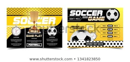 Futbol şampiyonluk poster siluetleri futbol oyuncular Stok fotoğraf © -TAlex-
