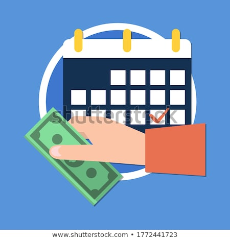 Time to pay tax - accounting reminder icon with checklist and cl Stock photo © gomixer