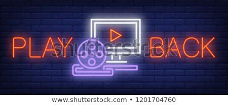 Film film giocare simbolo muro bianco Foto d'archivio © make