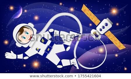 Astronauta przestrzeń kosmiczna tle elementy obraz charakter Zdjęcia stock © NASA_images