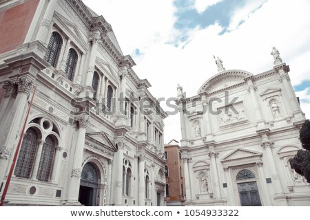 San Rocco Church. Venice with Ancient Buildings. Stock photo © ShustrikS