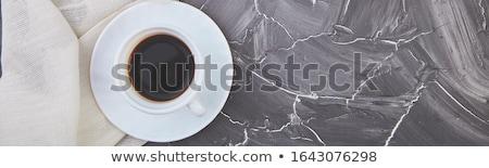 Banner twee witte espresso grijs Stockfoto © Illia