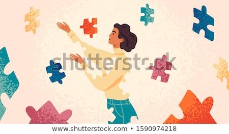 Pomoc psychologia wsparcia autystyczny mózgu Zdjęcia stock © Lightsource
