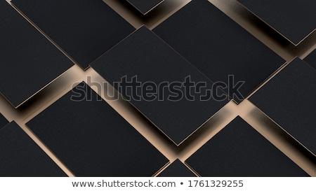 Minimális prémium arany névjegy sablon terv Stock fotó © SArts