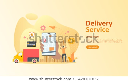 Online Delivery Service Landing Web Page Template Stock photo © robuart