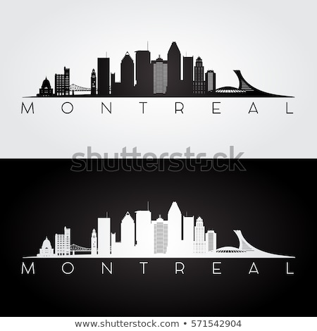 Montreal preto e branco silhueta simples turismo Foto stock © ShustrikS
