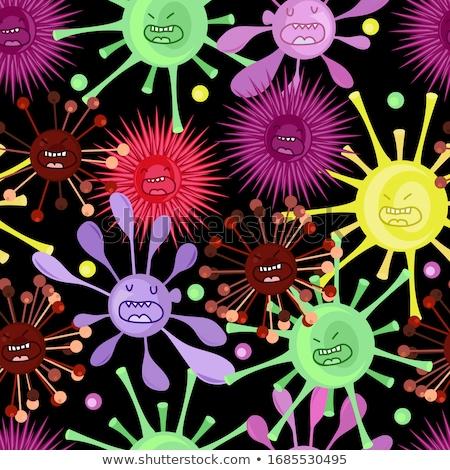 Toplama vektör virüs desen karikatür Stok fotoğraf © ExpressVectors