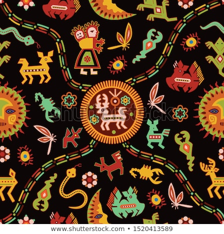 pattern in traditional vintage style folk traditional ornament. Stock photo © Margolana
