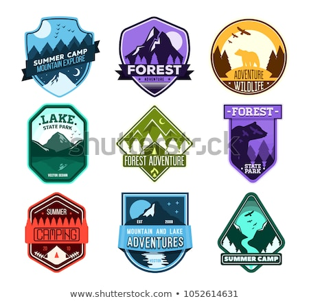 Mountain Camp Forest Explore Graphic Sign Design Stock photo © barsrsind