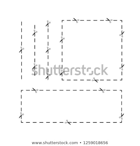 Simple black trim path with scissors icons Stock photo © evgeny89