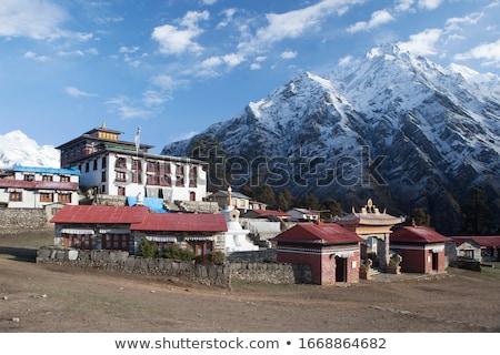 Aldeia himalaia casa montanha montanhas casas Foto stock © dmitry_rukhlenko