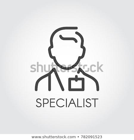 Pessoa vendedor ícone vetor ilustração Foto stock © pikepicture