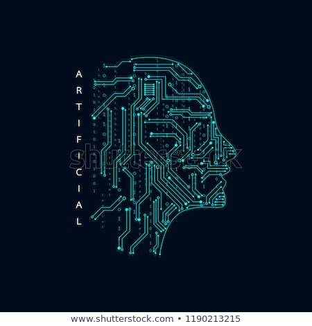 artificial intelligence face with gears symbol design Stock photo © SArts