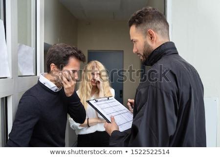 Sąd aresztować młoda kobieta działalności kobieta rodziny Zdjęcia stock © AndreyPopov
