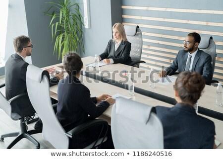 Vlaggen internationale conferentie boardroom business corporate Stockfoto © dolgachov