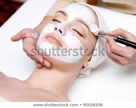 Facial cream beauty treatment Stock photo © phakimata