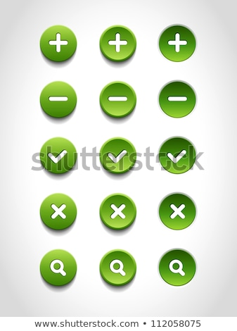 Groene knop minus witte ring web design Stockfoto © hlehnerer