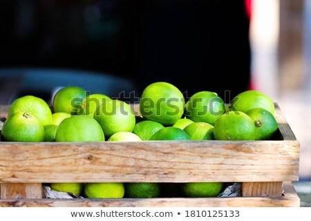 Citroenen dozen groothandel markt vruchten achtergrond Stockfoto © deyangeorgiev