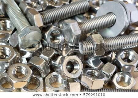 screw nuts background Stock photo © prill