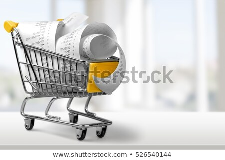 Receipts on a shopping cart Stock photo © pixpack