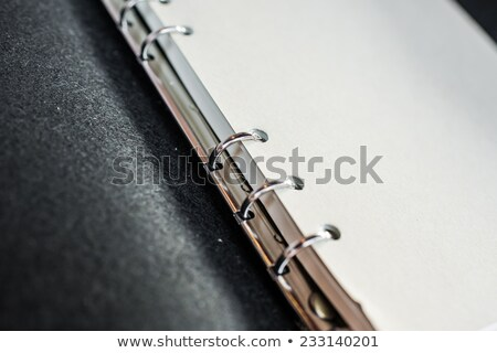 Blauw · dekken · notebook · witte · business · papier - stockfoto © vichie81
