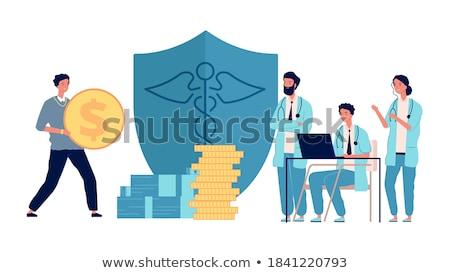 lucro · medicina · estetoscópio · dinheiro · ouro · médico - foto stock © markross