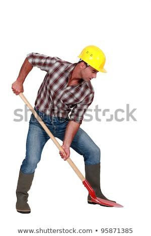 Laborer digging, studio shot Stock photo © photography33