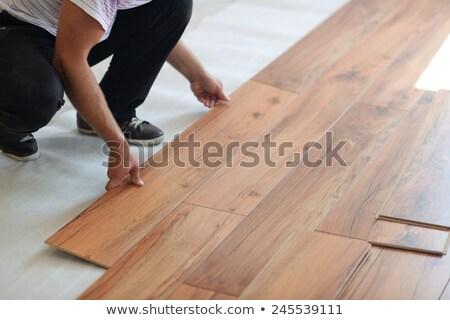 Installing New Flooring Сток-фото © dotshock