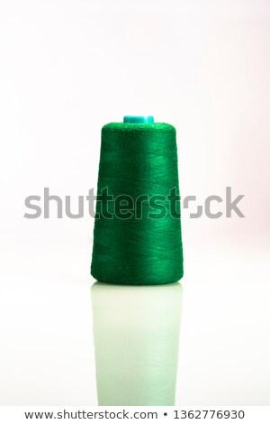 Yeşil makara iplik iğne kadın göz Stok fotoğraf © ivonnewierink