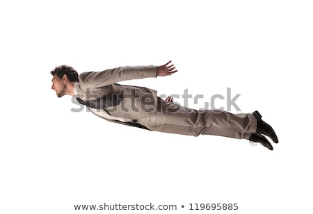 happy flying businessman Stock photo © smithore