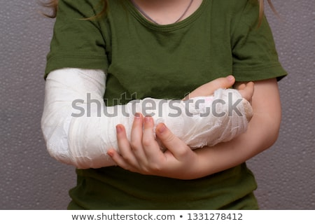 portrait of little girl with injury stock photo © photography33