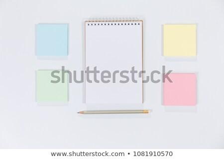 Renk kalem kırpmak dikkat kağıtları Stok fotoğraf © luapvision