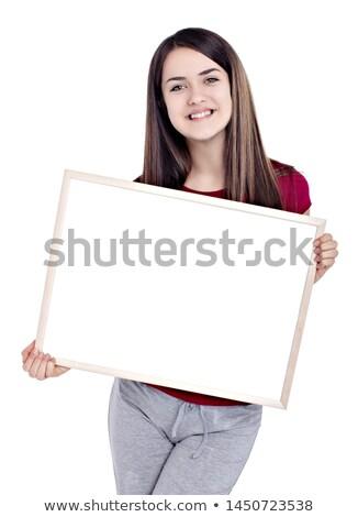 adolescente · meninas · sorridente · câmera - foto stock © stockyimages