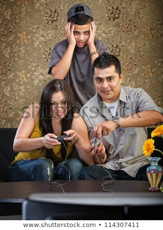 trio playing video games Stock photo © photography33
