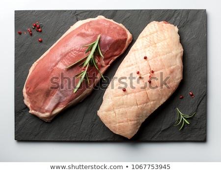 nyers · kacsa · mell · hús - stock fotó © m-studio
