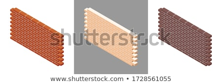 Bricklayer with a block wall Stock photo © photography33
