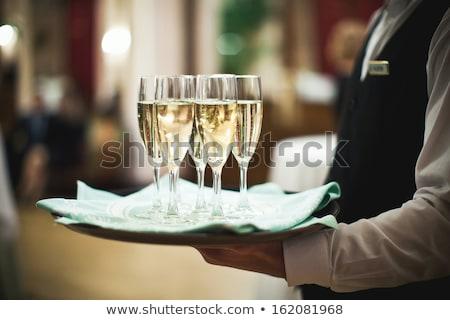 retrato · exitoso · alegre · masculina · camarero - foto stock © photography33