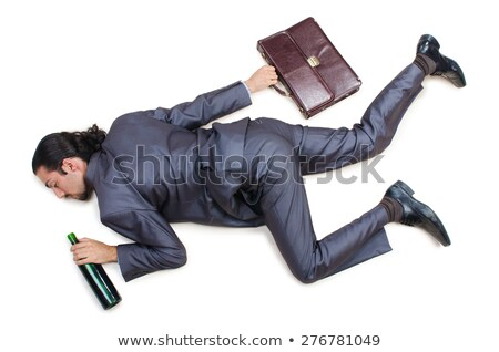 Defeated Businessman lying on white stock photo © pzaxe
