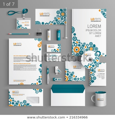 Stock photo: Stationery set with gears