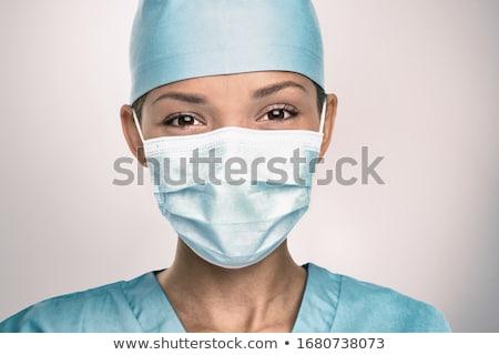 sebészi · nővér · barátságos · cserjék · iroda · orvos - stock fotó © lisafx
