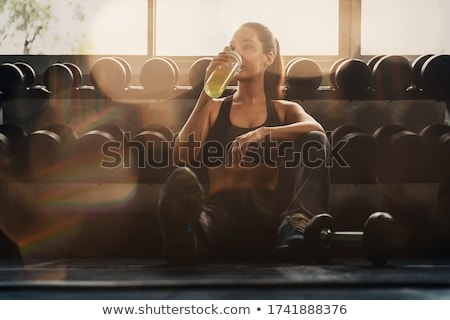 Woman Resting After Workout Stock photo © ruigsantos