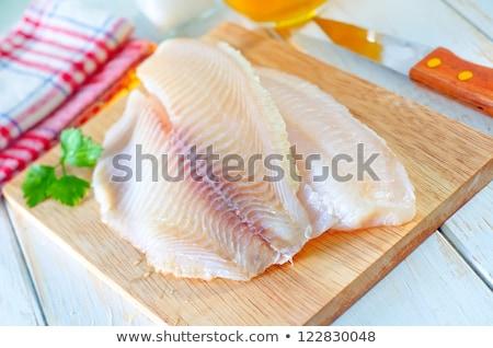 ízlés friss hal edény izolált fehér Stock fotó © shutswis